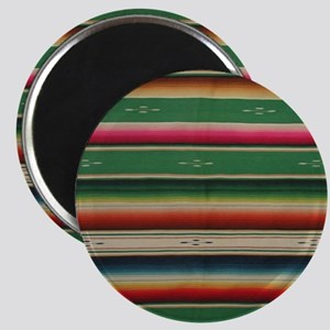 Vintage Green Mexican Serape Magnet