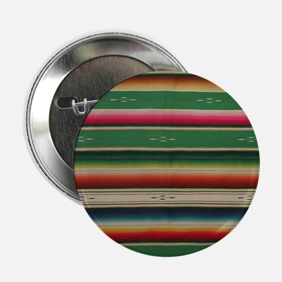 "Vintage Green Mexican Serape 2.25"" Button"