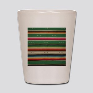 Vintage Green Mexican Serape Shot Glass