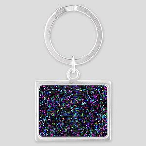 Glitter Graphic Background Landscape Keychain