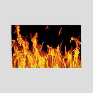 Flames 3'x5' Area Rug