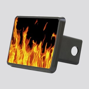 Flames Rectangular Hitch Cover