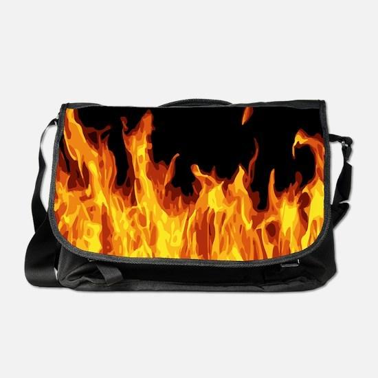Flames Messenger Bag