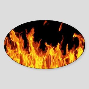 Flames Sticker (Oval)