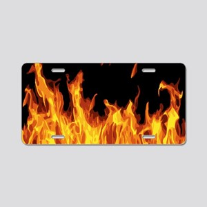 Flames Aluminum License Plate