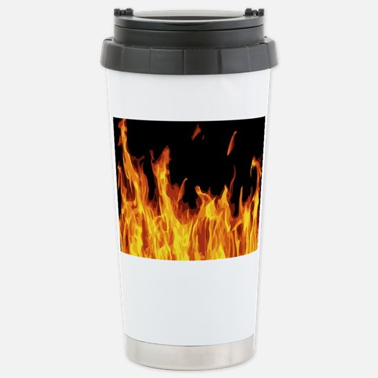 Flames Stainless Steel Travel Mug