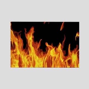 Flames Rectangle Magnet