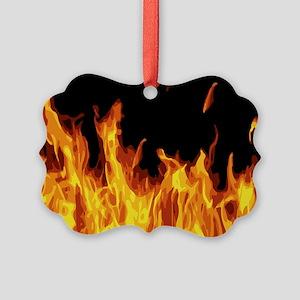 Flames Picture Ornament