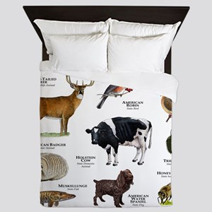 Wisconsin State Animals Queen Duvet