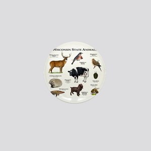 Wisconsin State Animals Mini Button