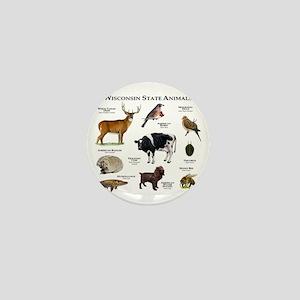 Wisconsin State Animals Mini Button