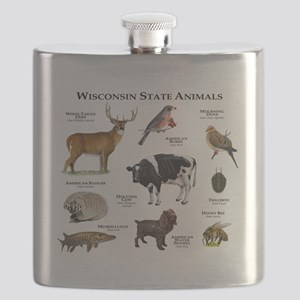Wisconsin State Animals Flask