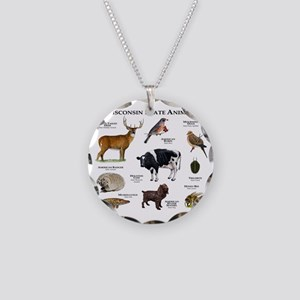 Wisconsin State Animals Necklace Circle Charm