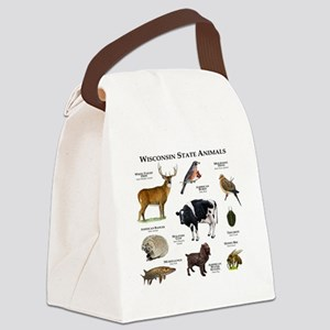 Wisconsin State Animals Canvas Lunch Bag
