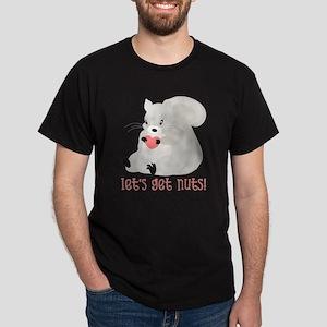 Let's Get Nuts Squirrel Dark T-Shirt
