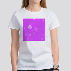 flowers and swirls fuchsia Women's T-Shirt