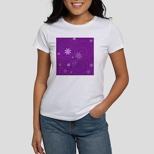 flowers and swirls purple Women's T-Shirt