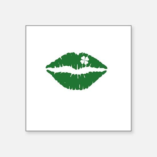"""kissMeDeliciousSP1B Square Sticker 3"""" x 3"""""""