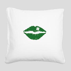 kissMeDeliciousSP1B Square Canvas Pillow