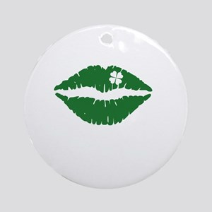 kissMeDeliciousSP1B Round Ornament