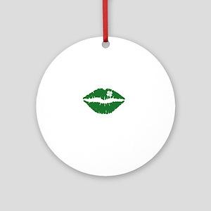 kissMeDeliciousSP1B Round Ornament