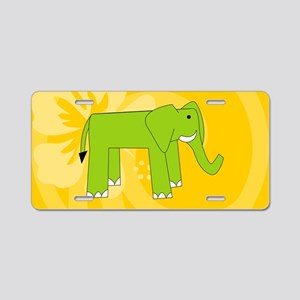 Elephant Clutch Bag Aluminum License Plate