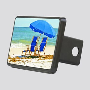 Beach, Umbrella and Chairs Rectangular Hitch Cover