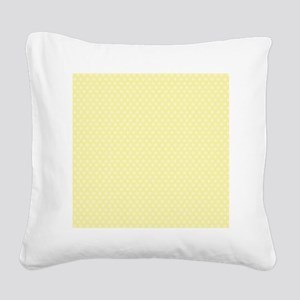 small dots baby yellow Square Canvas Pillow