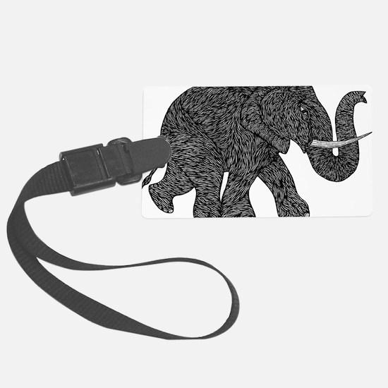 Elephant Teen shirt Luggage Tag