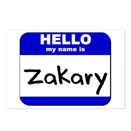 hello my name is zakary Postcards (Package of 8)