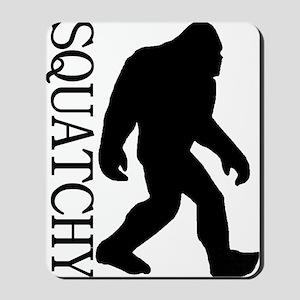 silhouette squatch black Mousepad
