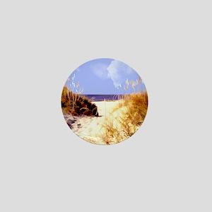 A Peek Through the Dunes to the Ocean Mini Button