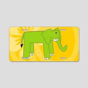 Elephant 20X12 Wall Decal Aluminum License Plate