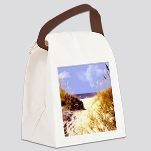 A Peek Through the Dunes to the O Canvas Lunch Bag