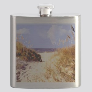 A Peek Through the Dunes to the Ocean Flask