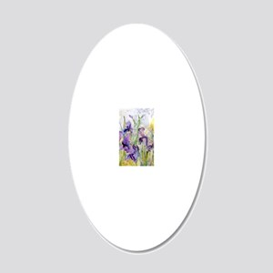 Romantic Ruffles 20x12 Oval Wall Decal