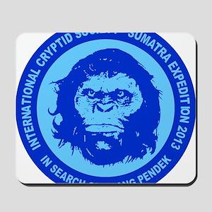 Orang Pendek blue Mousepad