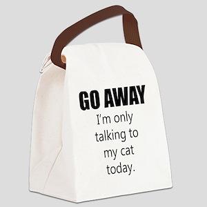 Go Away Canvas Lunch Bag
