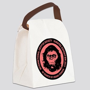Orang Pendek black pink Canvas Lunch Bag