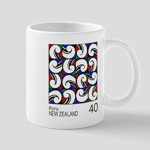 1988 New Zealand Koru Painting Postage Stamp Mugs