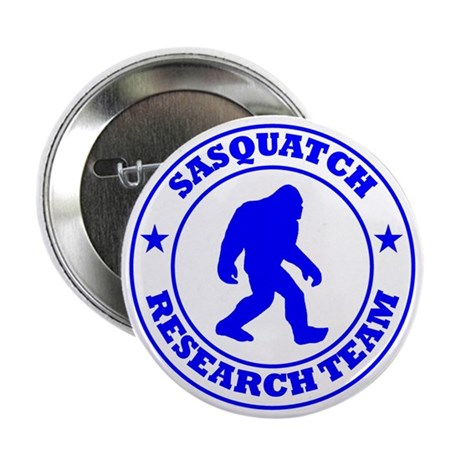 """sasquatch research team blue 2.25"""" Button"""