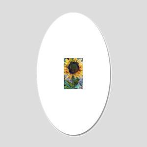 Sunflower Sunday 20x12 Oval Wall Decal