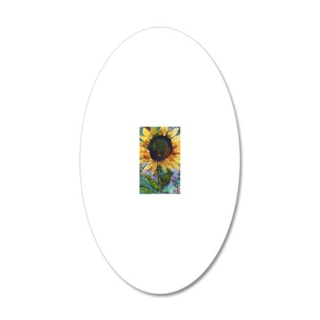 Sunflower Sunday 20x12 Oval Wall Decal
