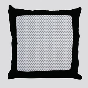 dots backwards gray Throw Pillow