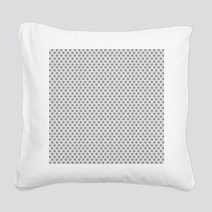 dots backwards gray Square Canvas Pillow