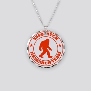 sasquatch research team red Necklace Circle Charm