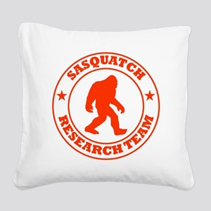 sasquatch research team red Square Canvas Pillow