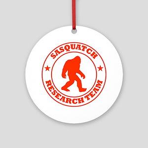 sasquatch research team red Round Ornament