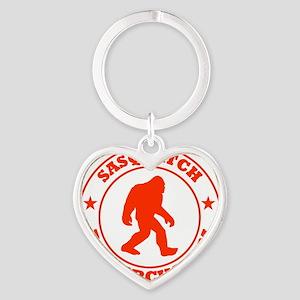 sasquatch research team red Heart Keychain