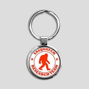 sasquatch research team red Round Keychain